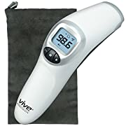 Forehead Thermometer by Vive Precision - Temporal Fever Thermometer for Babies, Adults, and Elderly - Digital Tympanic Temperature Measurement Device - Accurate and Instant Reading Head Temp Checker
