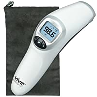 Forehead Thermometer by Vive - Digital Thermometer for Babies, Adults, and El...