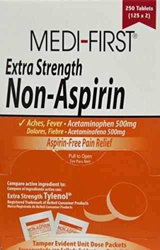 Extra Strength Non-Aspirin, 500mg, PK250 by Medi-First