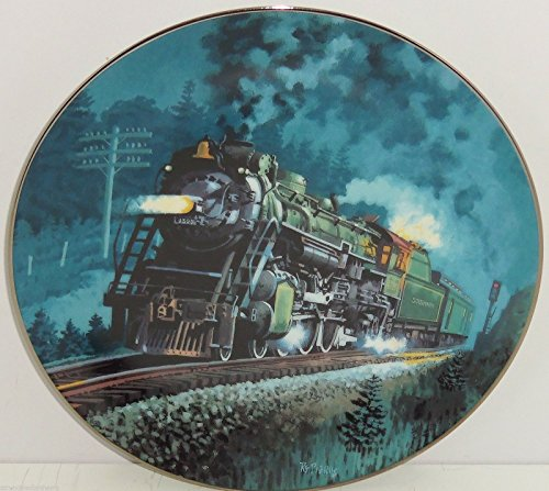 (Train Plate Knowles Collector Crescent Romantic Age Steam Engines Retired 1993)