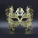 Face mask Shield Veil Guard Screen Domino False Front Halloween Party Party mask high-end Venice Flower Dance Empty Rhinestones Professional Metal mask Enamel Gold