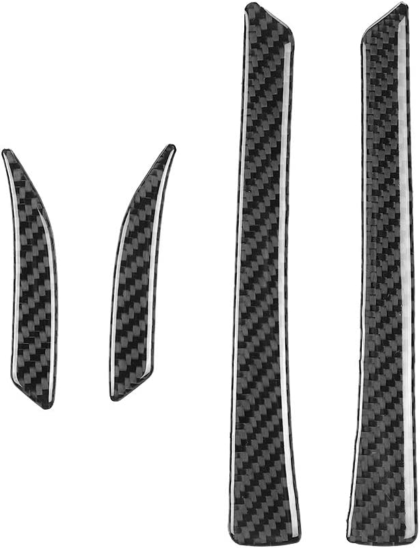 BLAKAYA Compatible with Sticker Carbon Fiber Rearview Mirror Side Mirror Decoration Trim Cover Accessories for Ford Mustang 2015 2016 2017 2018 2019 2020