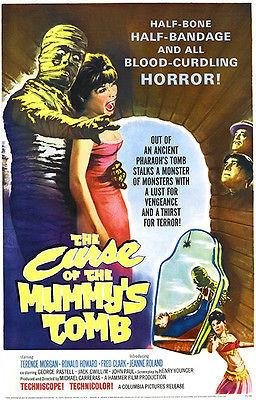 The Curse of The Mummy's Tomb - 1964 - Movie Poster (The Curse Of The Mummys Tomb 1964)