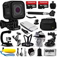 GoPro HERO5 Session HD Action Camera (CHDHS-501) + Ultimate 20 Piece Accessories Package with 48GB Memory + Travel Case + USB Portable Charger + Head/Chest Strap + Opteka X-Grip + Car Mount & More!