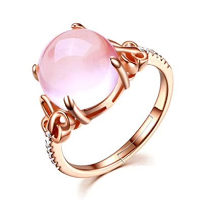 72ca69b3e2284 Amazon.com: Cute Rings for Women Girls Teens Adjustable Rose Gold ...