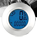 Meiyiu Luminous LCD Screen Bike Wireless Computer Cycling Odometer Speedometers for Tracking Riding Speed and Distance