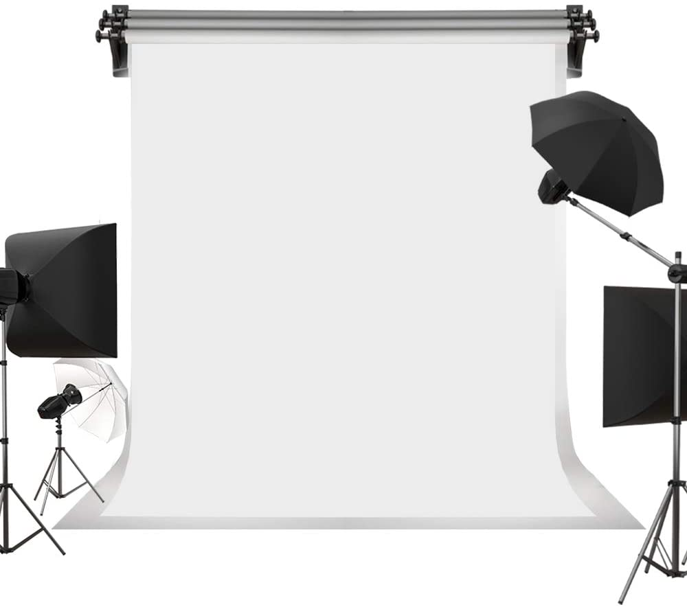Kate 5ft×7ft Solid White Backdrop Portrait Background for Photography Studio Children and Headshots Background for Photography Video and Televison
