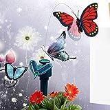 Gold Happy Solar Powered Dancing Flying Butterfly Fluttering Hummingbird Garden Decorative Stake Solar Power Toys for kids Random Color