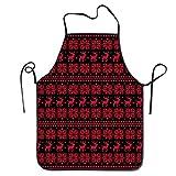 zebra snow brush - Rubber doormat Art Christmas Knitted Snow Deer Unisex Cooking Kitchen Aprons Chef Apron Bib