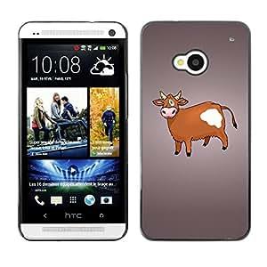 Be Good Phone Accessory // Dura Cáscara cubierta Protectora Caso Carcasa Funda de Protección para HTC One M7 // Funny Cow Humor