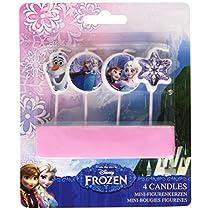 Amscan - Paquete de 4 velas, diseño Frozen (Travis Design 999257)
