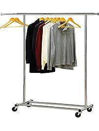 simple houseware heavy duty clothing garment rack chrome