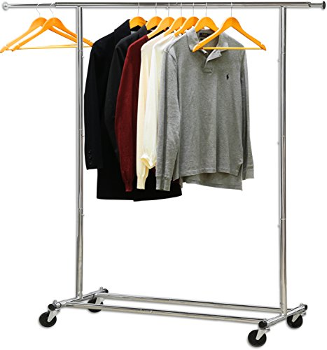 Simple Houseware Heavy Duty Clothing Garment Rack, Chrome ()