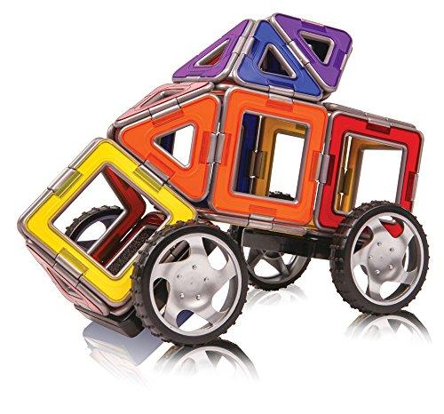51S2MFkru0L - Magformers Smart Set (144-piece ), Deluxe Building Set. magnetic building blocks, educational magnetic tiles, magnetic building STEM toy set