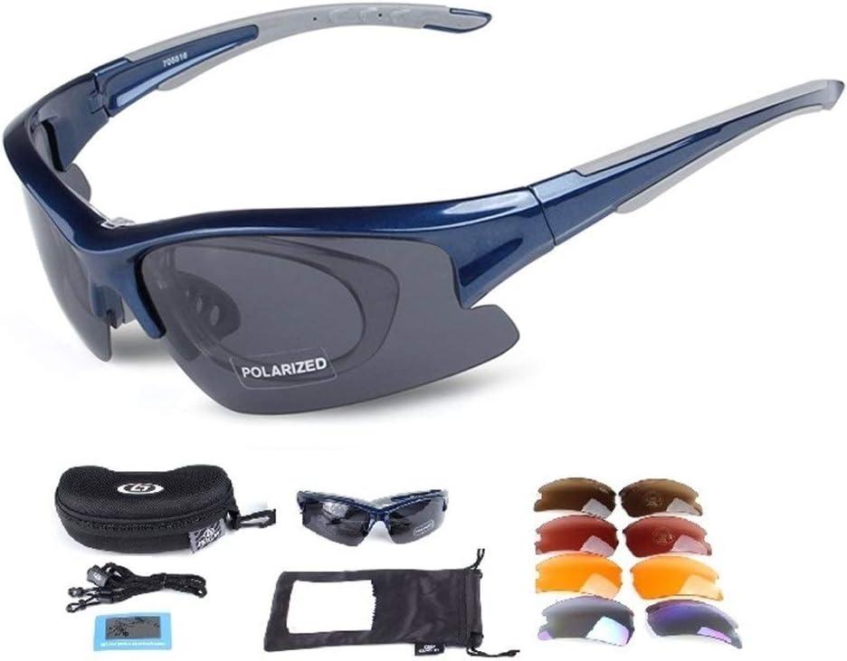 Wonzone Polarized Sports Sunglasses UV400 with 5 Interchangeable Lenes for Men Women Cycling Running Driving Fishing Golf Baseball MTB Glasses