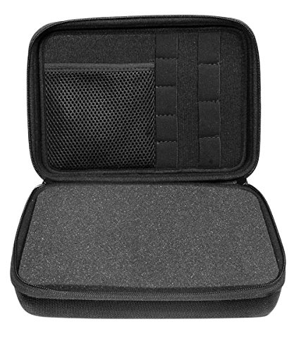 Professional Portable Recorder Case with DIY foam inlay for DR-05, DR-40, DR-22L, DR-100MKll, DR-1, Mini Tripod, Adapter, Mic Pop Windscreen, Smart accessory padding solution for SD cards, cabl by WGear (Image #2)