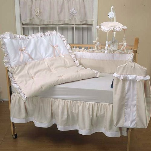 (Baby Doll Bedding Regal Pique Crib Bedding Set, Ivory)