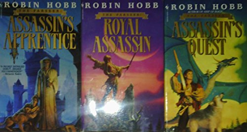Author Robin Hobb Three Book Bundle, The FARSEER Trilogy: Assassin's Apprentice - Royal Assassin - Assassin's Quest (Not A Box Set)