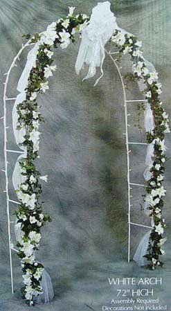 7-1/2 Foot White Indoor or Outdoor Wedding Arch