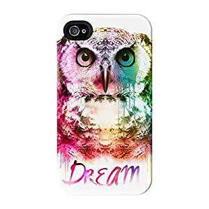 Watercolor Owl Full Wrap High Quality 3D Printed Case for iPhone 4 / 4s by Gangtoyz + FREE Crystal Clear Screen Protector