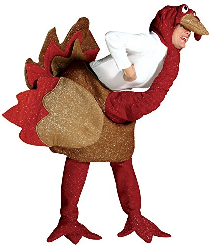 Rasta Imposta Mens Funny Chicken Turkey Theme Party Fancy Animals Costume, One Size (42-48) (Cheap Animal Costumes For Adults)