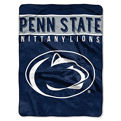 "The Northwest Company Officially Licensed NCAA Penn State Nittany Lions Basic Plush Raschel Throw Blanket, 60"" x 80"", Blue"