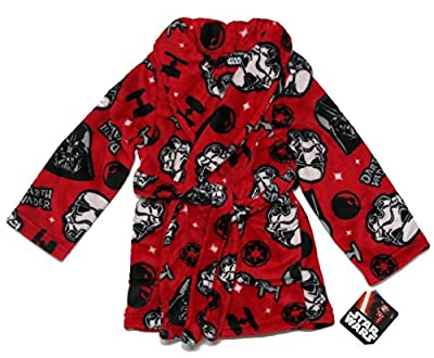 Boys Star War Darth Vador Plush Robe Size M 8