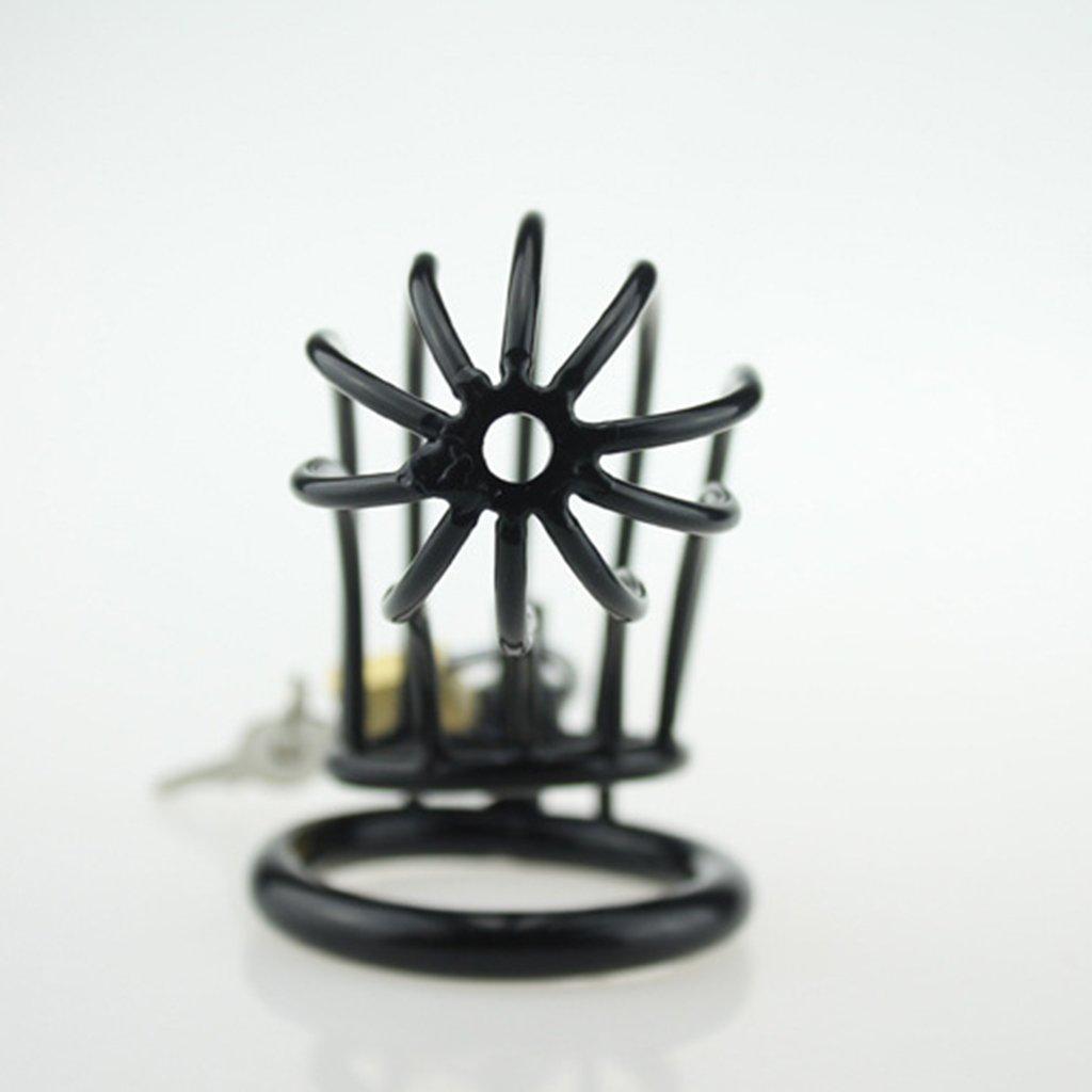 ZM Dispositivo de castidad pene Masculina Orgasmo retardado Estimulación pene castidad Acero Inoxidable Hombre Jaula de Bloqueo Juguete Alternativo (7 * 3.5cm) Negro (Tamaño : 50mm) 4a8a1a