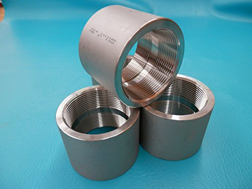 "Stainless Steel Pipe Coupling 3 inch ID New 304 MB 3"" 150 , 8 TPI"