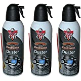 Falcon Dust-Off Compressed Gas Duster for Electronics Devices, 12 oz Cans last extra long, 3 Packs
