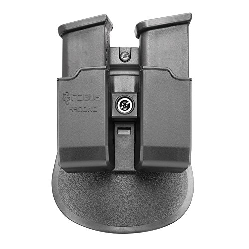 Fobus 6900NDP Evolution Mag Pouch for Glock & H&K USP 9mm & .40 Double-Stack Double Magazine Pouch, Right Hand Paddle