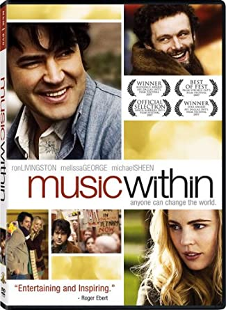 DVD cover for Music Within. Two brown-haired white men and a blonde white woman are pictured.