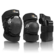 """JBM Protective Gear for Wrist elbow knee.  We are professional on Sport Equipment set.Item specifics Age: adult  Color: Black Material: Polyester, PP plastic and PE foamSize:Adults: Elbow (min 9.5"""" max 13.5"""") Knee (min 12.5"""" max 17"""")Youth / C..."""