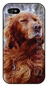 For Ipod Touch 4 Case Cover Eyes closed - black plastic case / dog, animals, dogs