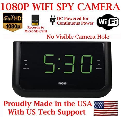 ( 100% COVERT ) SecureGuard 1080P HD WiFi Wireless IP Alarm Clock Radio Hidden Security Nanny Cam Spy Camera with 16GB Internal Memory ( 100% COVERT / No Pinhole / No Lights Sounds / No buttons )