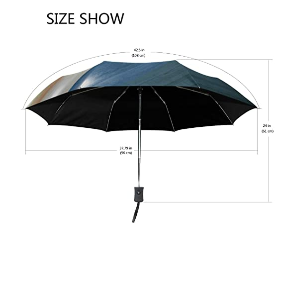 85772ee40990 Amazon.com: OuLian Umbrella Colored Wood Texture Golf Travel Sun ...