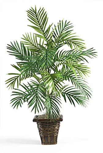 MISC Green Areca Palm Tree Artificial Plants Tropical Indoor Palmtree in Wicker Basket Floral Dypsis Lutescens Botanical Arecaeae Butterfly Palm Golden Cane Plant Traditional Brown, - Tropical Diamond Palm Tree