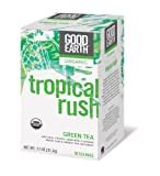 Good Earth Organic Green Tea, Tropical Rush, 18 Count Tea Bags (Pack of 6)