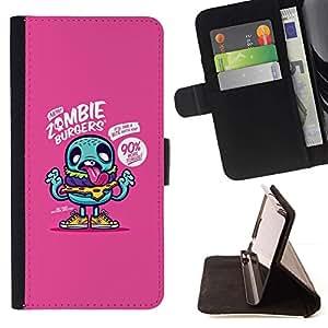 For HTC Desire 626 626w 626d 626g 626G dual sim Case , Trullo de la historieta del zombi zombi divertido- la tarjeta de Crédito Slots PU Funda de cuero Monedero caso cubierta de piel
