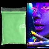 Zerone Fluorescente polvo del pigmento fotoluminiscente brillante para DIY del clavo del arte de la pintura de impresión (manzana verde)