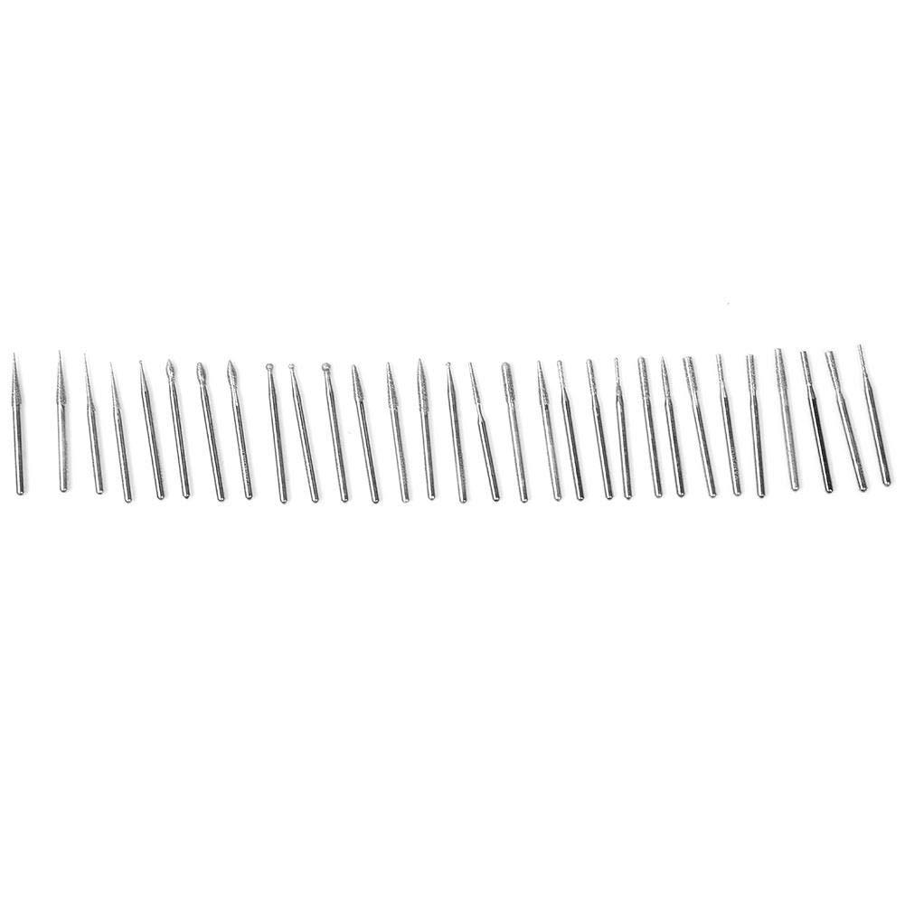 Engraving 30pcs Carbide Burrs Set Mini Burrs Bits 2.35mm//3mm Shank for Carving Drilling Polishing 3mm shank diameter