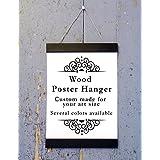 Black Wood Poster Hanger, Custom size Art Hanger, poster frame, picture hanger, Black Wood, Handmade Frame