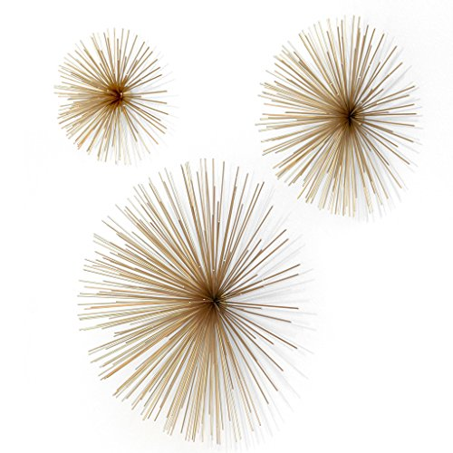 Gold-Spike-Metal-Wall-Pods-Set-of-Three-Bundle