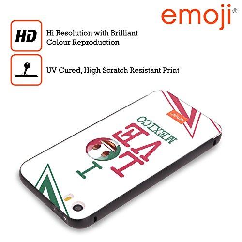 Officiel Emoji Le Mexique J'aime Mon Pays Noir Étui Coque Aluminium Bumper Slider pour Apple iPhone 5 / 5s / SE