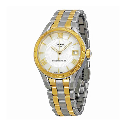 Tissot Lady 80 Automatic White Mother of Pearl Dial Two-tone Ladies Watch T0722072211800