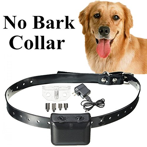Dog Bark Control Collar,Focuspet Pet Electric Anti Bark Training Collar Vibration shock/static 6 intensity levels 7 Levels Adjustable Sensitivity rechargeable No Bark Collar