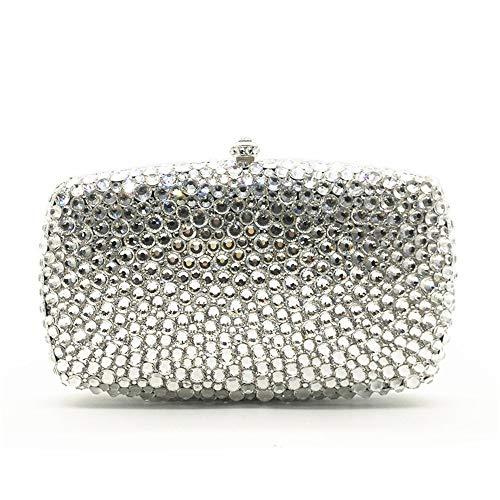 Evening Color Clutch Soirée Diamante Sacs à Gold Handbag Lovely Sacs Main Sparkly Silver rabbit wPpzqz