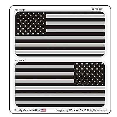 "AMERICAN FLAG Military SUBDUED FLAGS (2 PACK) Vinyl Hard Hat Helmet decal - size: 2"" X 1"" - Hard Hat, Helmet, Windows, Walls, Bumpers, Laptop, Lockers, etc."
