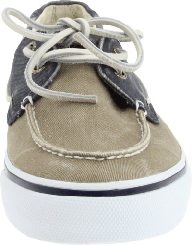 Sperry Bahama Canvas, Mocasines de Lona Para Hombre Azul (Navy/Taupe)