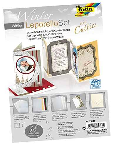 Folia 11205 - Leporello Set mit Cutties Winter, bunt